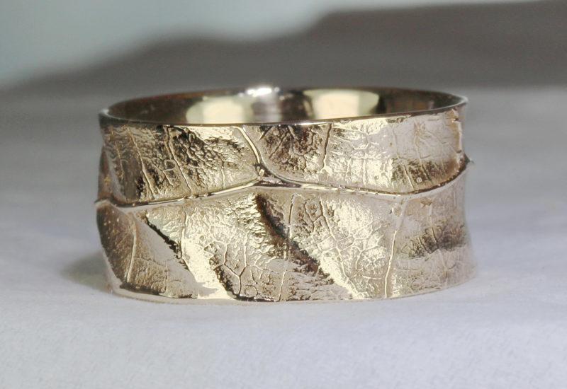 Sarment de cœur - Pendentif original artisanal or blanc naturel et diamant
