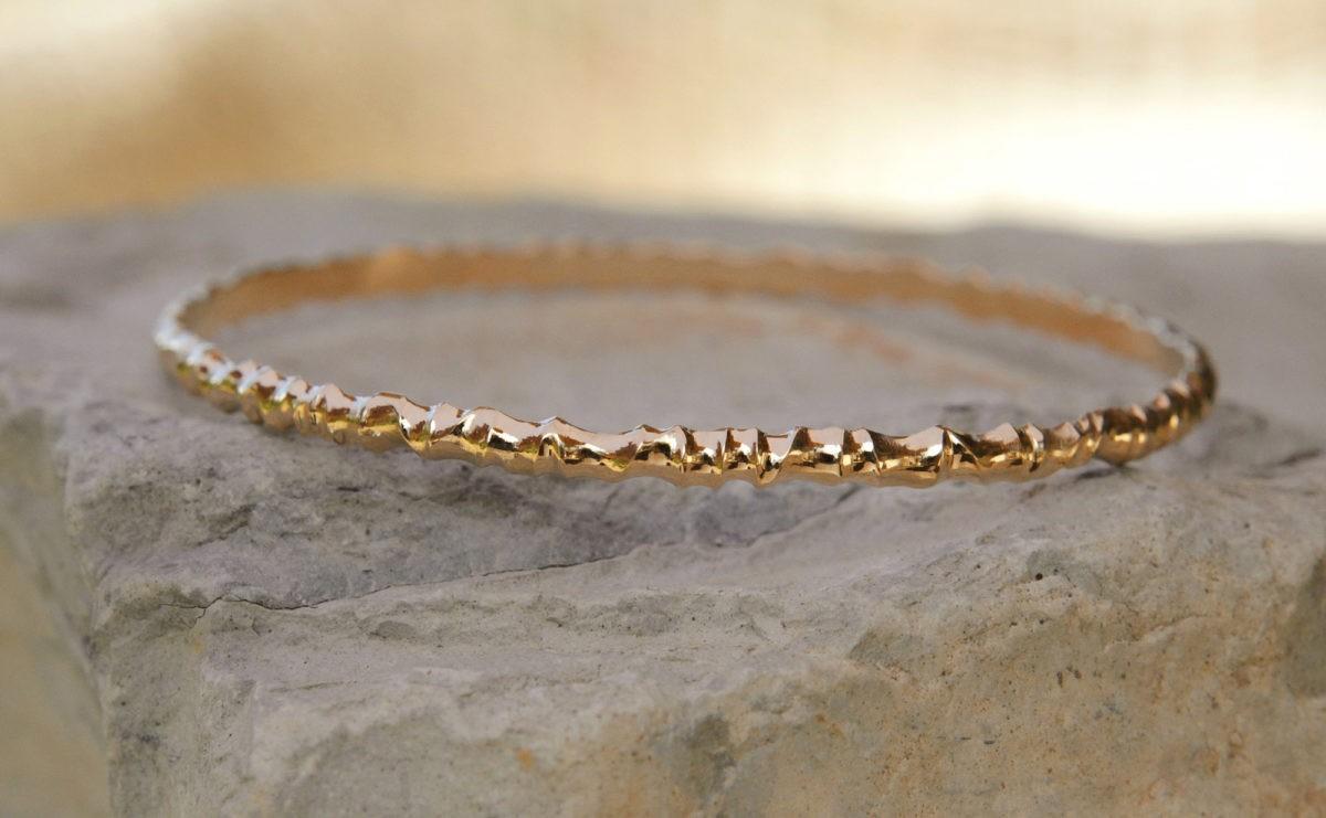 Princesse des Elfes - Bracelet artisanal original en or jaune