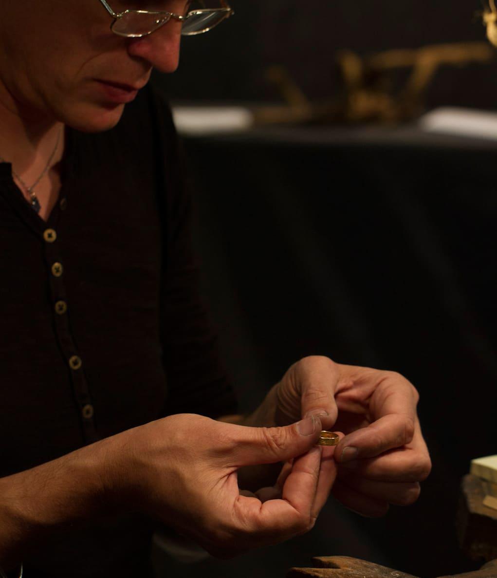 Yves-Dominique Audollent, artisan bijoutier créateur mariage